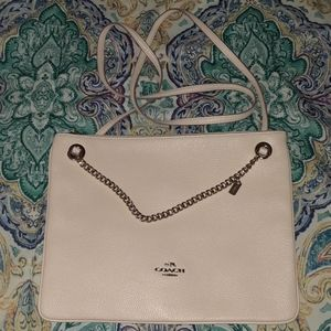 Leather envelope style Coach shoulder bag